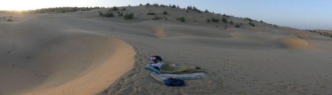 Übernachten in den Sanddünen