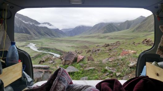 Ein typischer Schlafplatz in Kirgistan