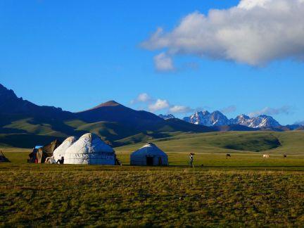 Die für Kirgistan typischen Kurten am Song Köl