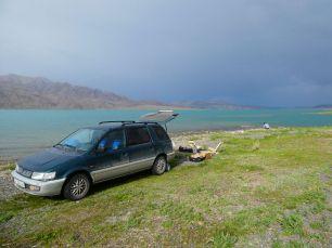 Ein Stausee vor dem Issyk Kül See