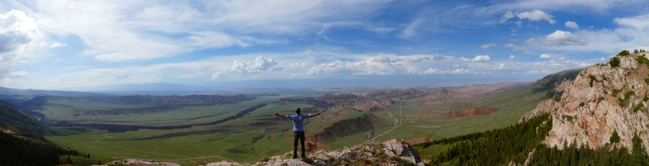 Unglaubliches Panorama - und dazu völlig unentdeckt. Ein echtes Highlight für uns!