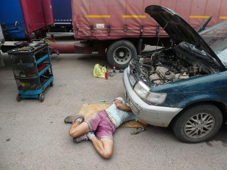 Endlich ein Mechaniker, der weiß was er tut: Josef :-)